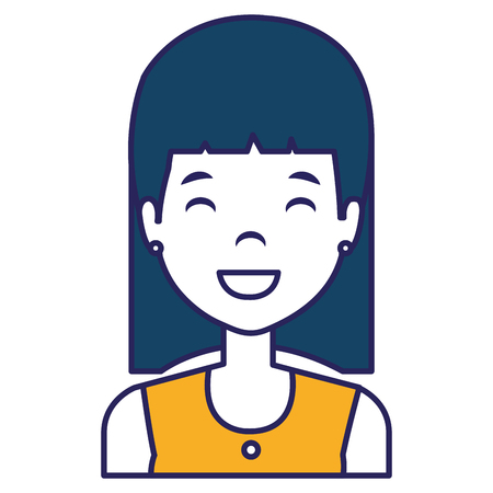 Young and casual woman character. Vector illustration design.