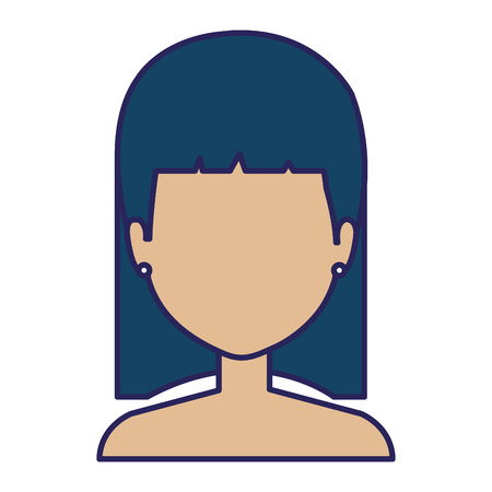 Young woman shirtless character vector illustration design.  イラスト・ベクター素材