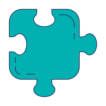 Puzzle game piece icon vector illustration design. Stock Illustratie