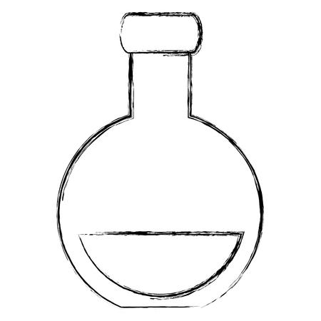 Tube test flask icon vector illustration design
