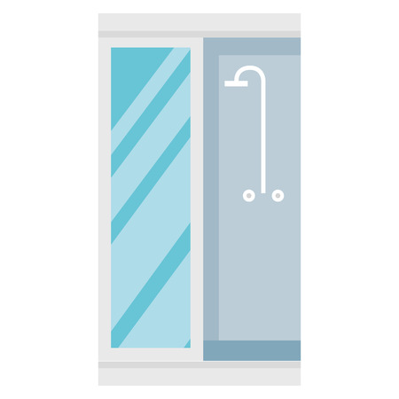 bathroom shower isolated icon vector illustration design Illustration