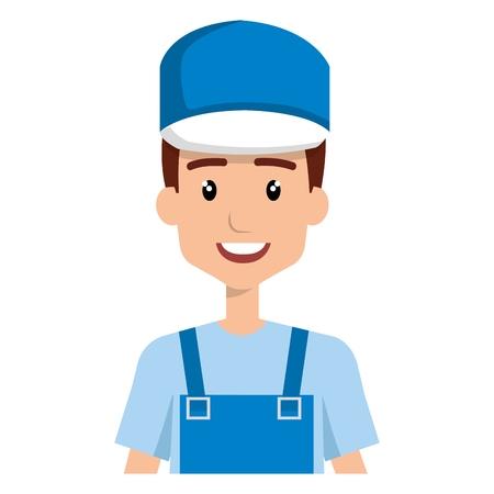 plumber worker avatar character vector illustration design