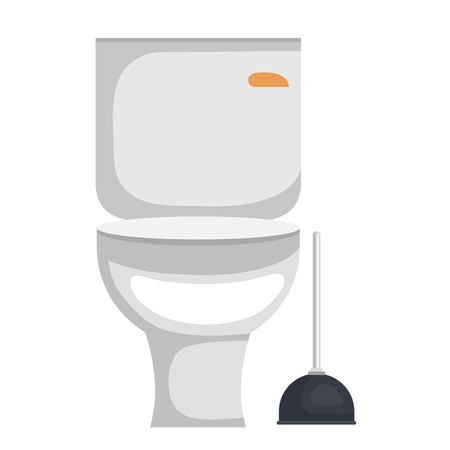 bathroom sanitary with suck bath vector illustration design