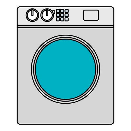 washer machine appliance icon vector illustration design