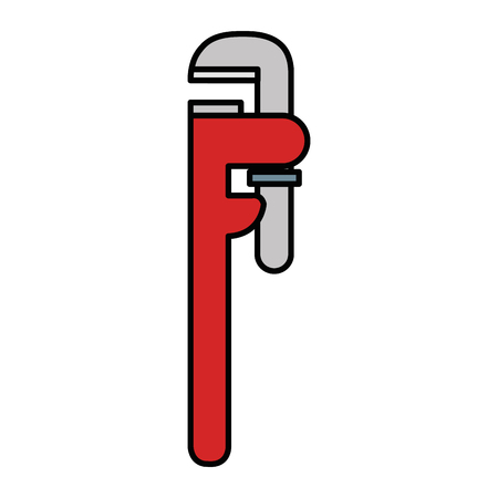 Plumbing wrench isolated icon vector illustration design