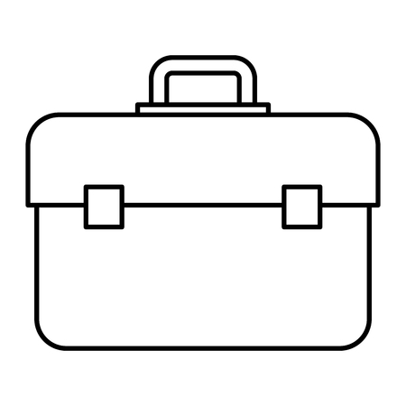 Plumber tool box icon vector illustration design