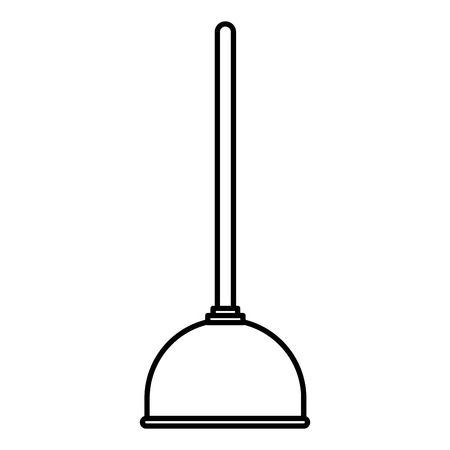 Plumbing suction pump icon vector illustration design
