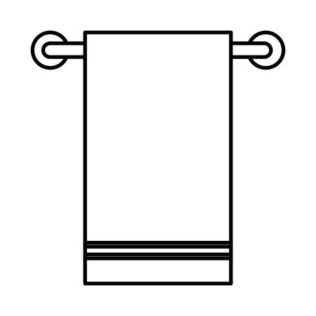 Bathroom towel hanging icon vector illustration design