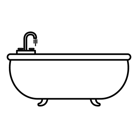 Elegant bathtub isolated icon vector illustration design
