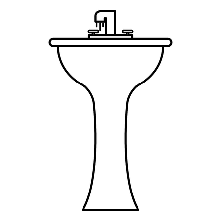 Handwash bathroom isolated icon vector illustration design