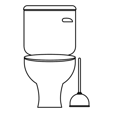bathroom sanitary with suck bath vector illustration design
