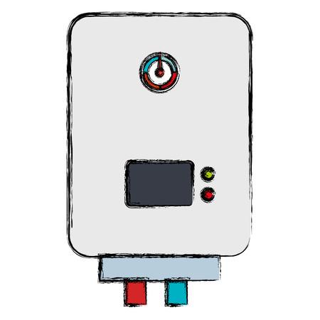 給湯器隔離アイコンベクトルイラスト設計