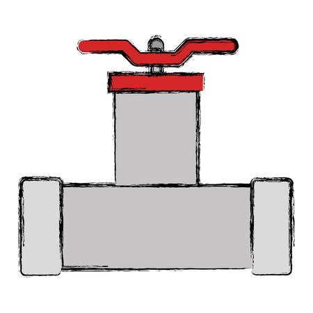 Bath tubing lever with key vector illustration design Stockfoto - 95973082
