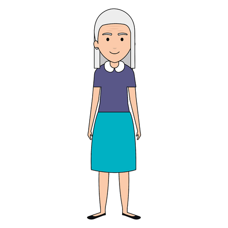 Grandmother avatar character illustration design Çizim