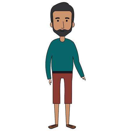 Grandfather avatar character illustration design