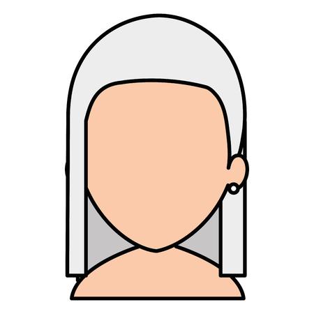 Cute grandmother shirtless avatar character vector illustration design