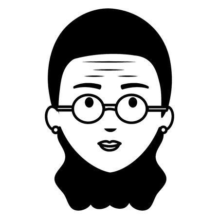 cute grandmother head avatar character vector illustration design Ilustração