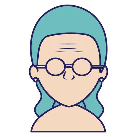 cute grandmother shirtless avatar character vector illustration design Ilustração