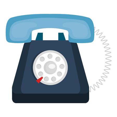 telephone service isolated icon vector illustration design 일러스트