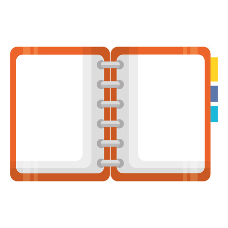 notebook with tabs icon vector illustration design 版權商用圖片 - 95986646