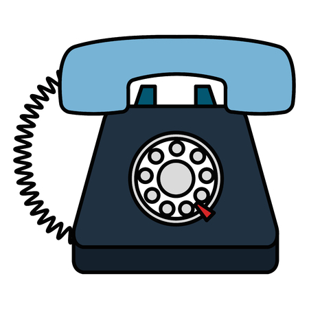 telephone handset service isolated icon vector illustration design  イラスト・ベクター素材