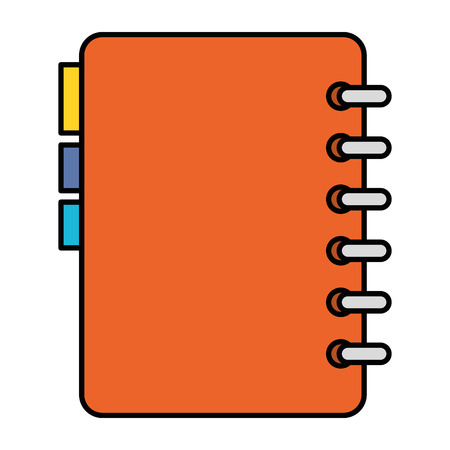 notebook with tabs icon vector illustration design Vettoriali