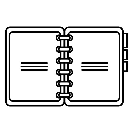 notebook with tabs icon vector illustration design 向量圖像