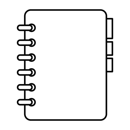 notebook with tabs icon vector illustration design  イラスト・ベクター素材