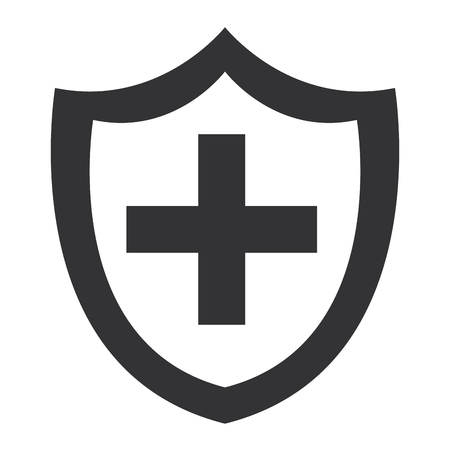 shield with cross icon vector illustration design Imagens - 95989886