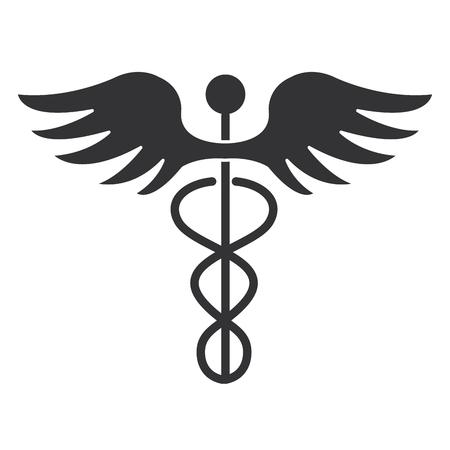caduceus medical symbol icon vector illustration design