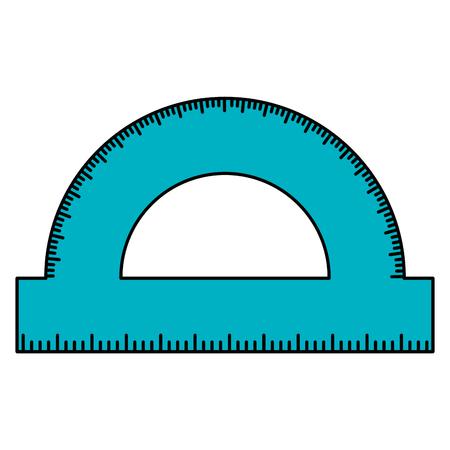 protractor rule school supply icon vector illustration design