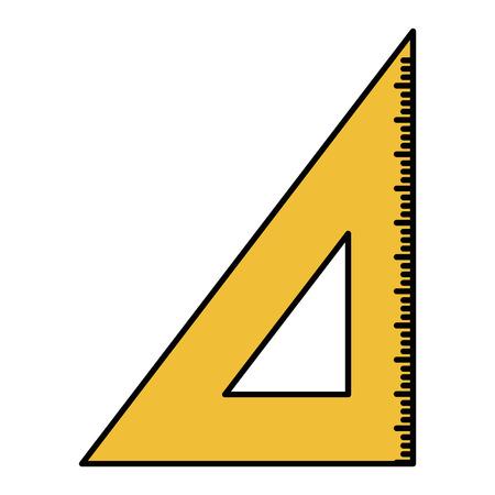 triangle rule school supply icon vector illustration design