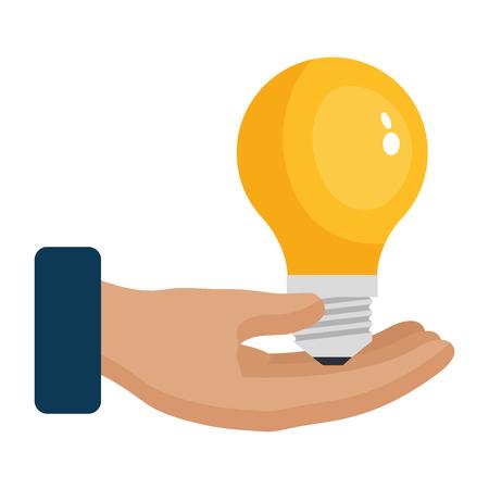 hand with bulb light vector illustration design Illustration