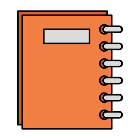 notebook school supply icon vector illustration design Illustration