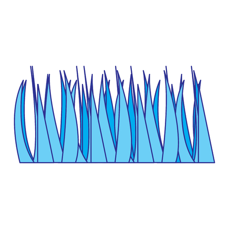 green grass frond natural foliage icon vector illustration blue image Çizim
