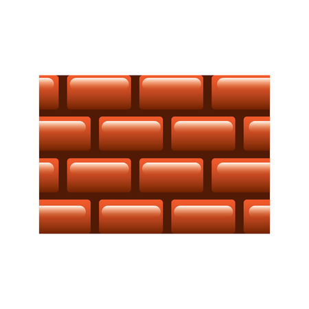 brick wall blocks construction concret image vector illustration Ilustração
