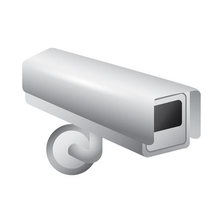 surveillance camera warning privacy safety vector illustration Illustration