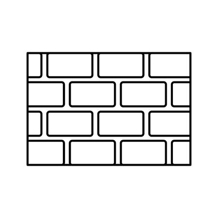 brick wall blocks construction concret image vector illustration outline Stock fotó - 96010411