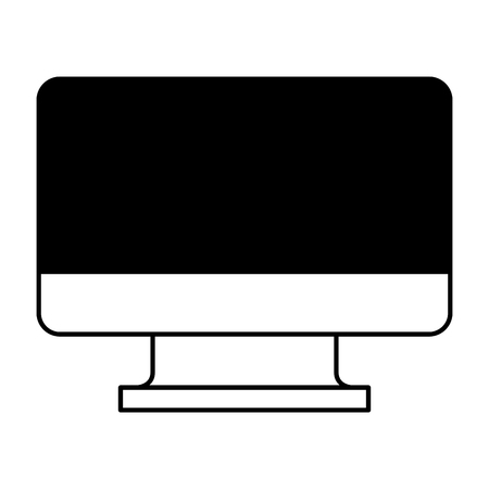 monitor computer technology device wireless vector illustration outline