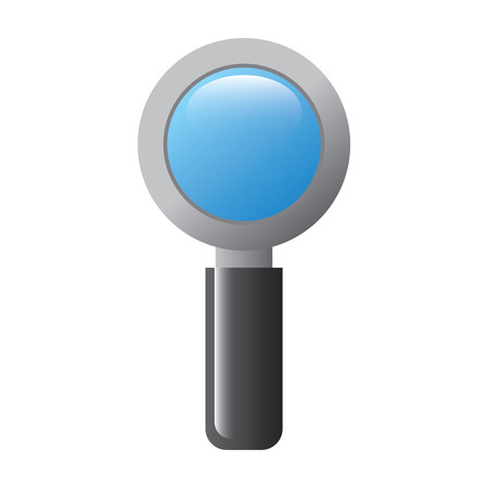 magnifier search technology research information vector illustration