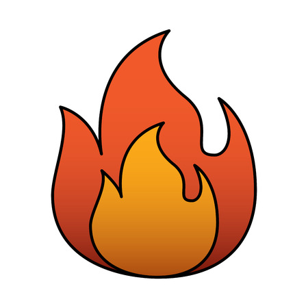 fire flame burning danger hot image vector illustration
