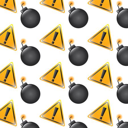 bomb warning alert error sign pattern image