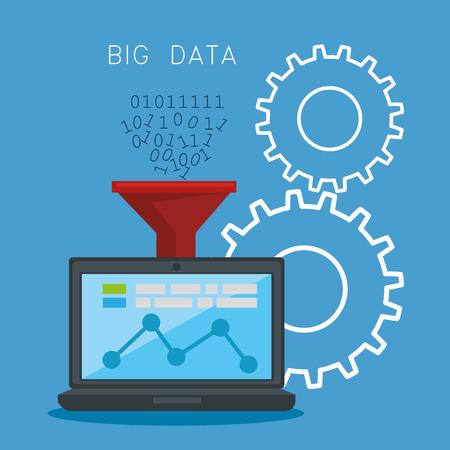 Big data icons set vector illustration design Banque d'images - 96032543