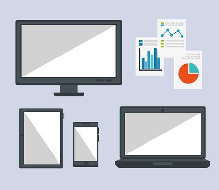 Big data icons set vector illustration design Banque d'images - 96032547
