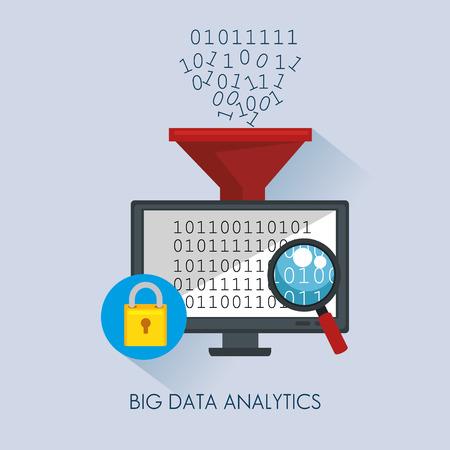 Big data icons set vector illustration design Banque d'images - 96032554