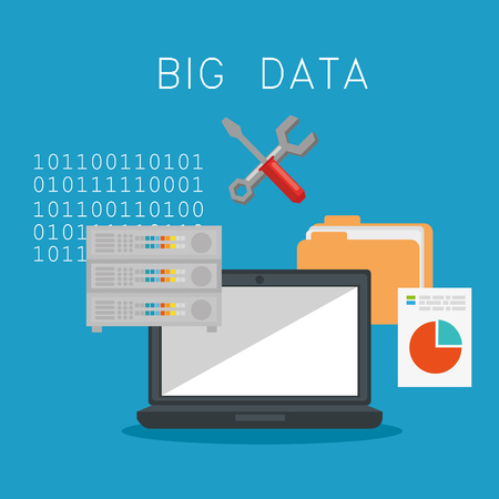 big data icons set vector illustration design