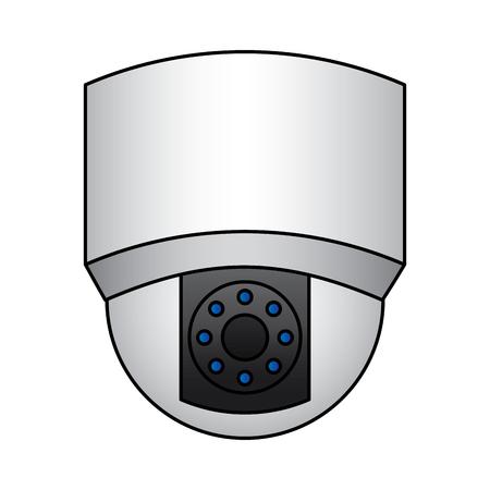 ceiling surveillance camera security technology vector illustration