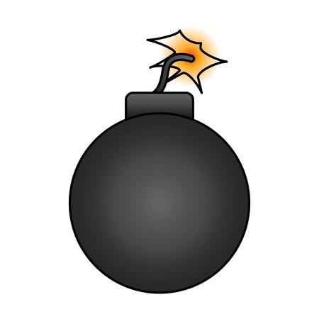 bomb danger explotion error attack icon vector illustration Illustration