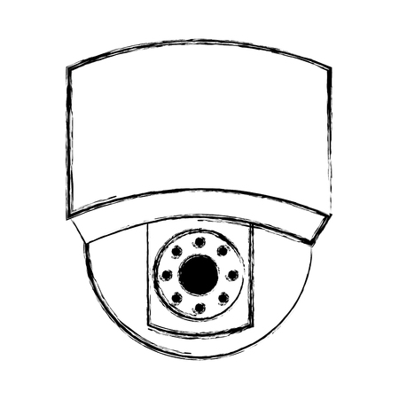 ceiling surveillance camera security technology vector illustration doodle graphic Illustration