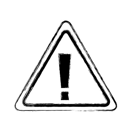 sign board warning alert error symbol vector illustration doodle graphic Illustration